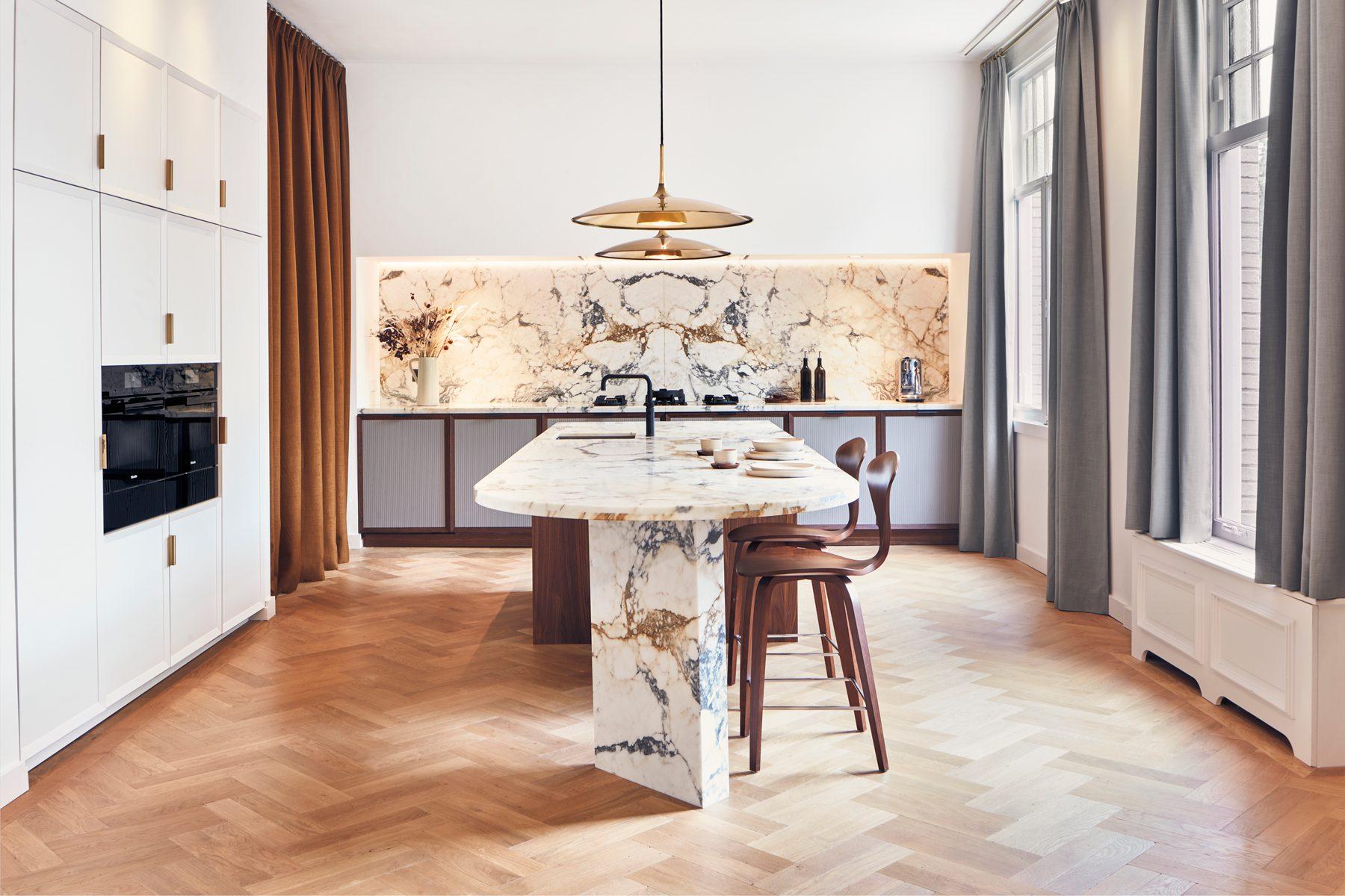 Marmeren keuken Paonazzo